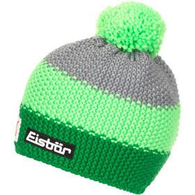 Eisbär Star Cappello con pon pon SP Uomo, electric/light green/grey mottled